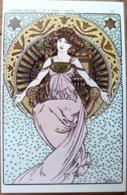 MUCHA COLLECTION DES CENT N°11 VERTICALE (1902) ADECA NEUDIN 1978 TIRAGE  N° 852/1000 - Peintures & Tableaux