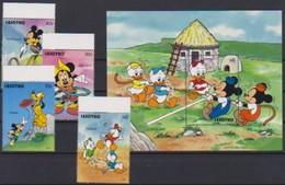 2547  Walt Disney   Lesotho   Stamps + Block . - Guyane (1966-...)