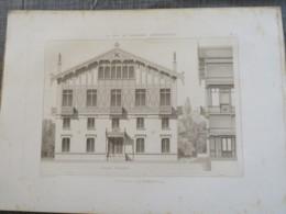 Bois De Boulogne 1875: Pavillon D'armenonville ,gravure. Hors Tout 29x40cm Bon état. Port Prio France : 4€ - Architecture