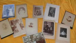 LOT DE 11 PHOTOS ANCIENNES DATE ?.../ SCENE PORTRAIT, BEBE MARIAGE LIEU ?... - Anonyme Personen