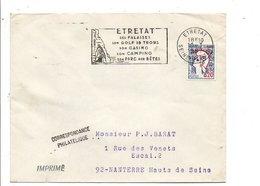 1 ER JOUR FLAMME DE ETRETAT 1967 - Poststempel (Briefe)