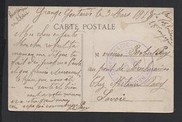 """DF / SUR CARTE POSTALE DE GRANGES-CONTARDES DRÔME , CACHET MILITAIRE """" 97è REGIMENT D' INFANTERIE  LE COLONEL """" / 1915 - Poststempel (Briefe)"""