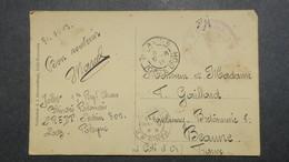 CPA De Lodz 1919 SP 309 1er Reg. De Chars ,  Blindés Polonais Et Cachet Du Bataillon Czolkow - Storia Postale