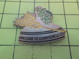 1518B  Pin's Pins / Beau Et Rare : THEME : BIERES / BRASSERIE DE CHAMPIGNEULLES HOUBLON ORGE - Beer