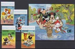 2549   Walt Disney   Lesotho ( Stamp Expo Chicago 1992  )  Stamps + Block . - Guyane (1966-...)