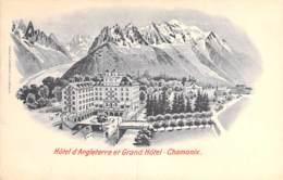 74 - CHAMONIX Mont Blanc : Hotel D'ANGLETERRE T GRAND HOTEL - CPA Illustration - Haute Savoie - Chamonix-Mont-Blanc
