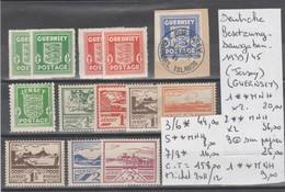 TIMBRES D ALLEMAGNE DEUTSCHE BESETZUNGSAUSGABEN 1939/45 (JERSEY) Nr VOIR SUR PAPIER AVEC TIMBRES COTE 158    € - Occupation 1938-45