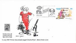 33368. Carta F.D.C. BARCELONA  1997. Payaso. Charlie RIVEL - FDC