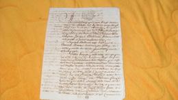 DOCUMENT MANUSCRIT ANCIEN DE 1789...ACCORD PASSE...CACHET GENERALITE DE BORDEAUX A ETUDIER  3 PAGES ECRITES - Manuscripten