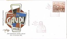 33369. Carta Exposicion REUS (Tarragona) 1993. Any Internacional GAUDI, Arquitecto - 1931-Hoy: 2ª República - ... Juan Carlos I