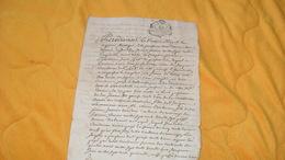 DOCUMENT MANUSCRIT ANCIEN DE 1750...COPIE D'UNE QUITTANCE...CACHET GENERALITE DE BORDEAUX A ETUDIER 2 PAGES ECRITES - Manuscripten