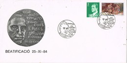 33370. Carta BARCELONA 1984. Beatificacion PADRE MANYANET. Hijos Sagrada Familia - 1931-Hoy: 2ª República - ... Juan Carlos I