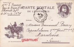 D Carente Maritime – 1917 - Carte Postale De L'espérance – Franchise  Militaire - En Reconnaissance (Caporal 5è Génie). - War 1914-18