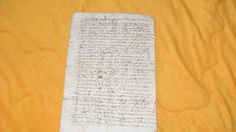 DOCUMENT MANUSCRIT ANCIEN DE 1702...A ETUDIER...4 PAGES ECRITES - Manuskripte