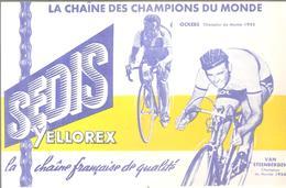 Buvard SEDIS YELLOREX La Chaîne Des Champions Du Monde OCKERS 1955 VAN STEENBERGEN 1956 - Sport