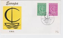Belgium 1966 FDC Europa CEPT (G57-22) - Europa-CEPT