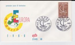 French Andorra 1966 FDC Europa CEPT (G57-22) - Europa-CEPT