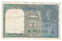 India 1 Rupee 1940 .J. - India