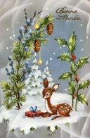 Cp-Bonne Année-paysage D'hiver, Faon ( écrite En 1967) - Nouvel An
