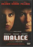 "DVD 1 FILM ""malice"" ALEC BALDWIN / NICOLE KIDMAN / BILL PULLMAN - Crime"