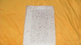 DOCUMENT MANUSCRIT TRES ANCIEN DATE ?.....A ETUDIER...6 PAGES ECRITES..VIEUX FRANCAIS ?.. - Manuskripte