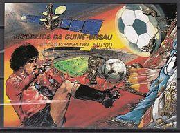 Football / Soccer / Fussball - WM 1982: Guinea-Bissau  Bl **, Imperf. - World Cup