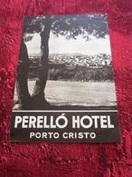 PERELLO HOTEL PORTO CRISTO MALLORCA PRECIOS MODICOS Guía De Viaje De Flyer Dépliant Guide Touristique - Tourism Brochures