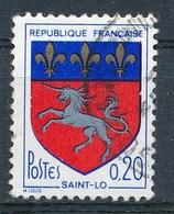 Frankreich Mi. 1570 Gest. Wappen Saint-Lo Pferd Lilien - Briefmarken