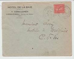 """Côte Du Nord : LOCQUEMEAU """" HOTEL DE LA BAIE """" Y Keraudren / LSC De 1930 B/TB - 1921-1960: Modern Period"""