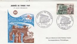 REUNION FDC Yvert 383 Journée Du Timbre St Denis 15/3/1969 - Reunion Island (1852-1975)