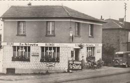 """CPSM:GIVRY EN ARGONNE (51) TUBE CITROËN PUBLICITÉ BIÈRE """"LA SLAVIA"""" DEVANT CAFÉ DE LA GARE ..ÉCRITE - Givry En Argonne"""