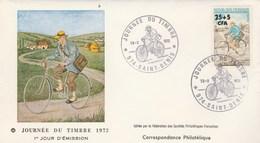 REUNION FDC Yvert 408 Journée Du Timbre St Denis 18/3/1972 - Reunion Island (1852-1975)