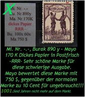 EARLY OTTOMAN SPECIALIZED FOR SPECIALIST, SEE...Mi. Nr. -.- - Burak 890 Y - Mayo 170 K -RRR- - 1921-... Republiek