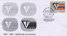 Lote 1961F, Colombia, 1994, SPD - FDC, Inravision, Logo TV - Colombia