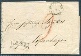1855 Netherlands Amsterdam Wrapper - Copenhagen Denmark Via K.D.O.P.A. HAMBURG / St Pauli - Period 1852-1890 (Willem III)