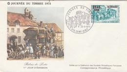 REUNION FDC Yvert 414 Journée Du Timbre St Denis  24/3/1973 - Reunion Island (1852-1975)