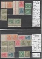 TIMBRES D ALLEMAGNE DEUTSCHE REICH MARKENHELFCHEN NEUF OBLITEREES 1933Nr VOIR SUR PAPIER AVEC TIMBRES COTE 83.20   € - Zusammendrucke