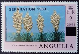 Anguilla 1980 Fleur Flower Surchargé Overprinted SEPARATION Yvert 370 ** MNH - Anguilla (1968-...)