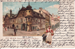 278563Alt Wien, Fasszieherhaus Am Neubau (poststempel 1900) - Vienna