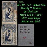 EARLY OTTOMAN SPECIALIZED FOR SPECIALIST, SEE...Mi. Nr. -.- - Burak 893 U - Mayo 176 -R- - 1921-... República