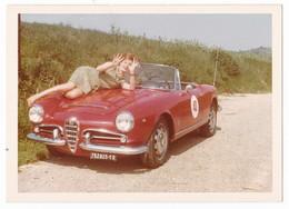 "AUTOMOBILE - ALFA ROMEO "" GIULIETTA CABIOLET SPIDER""  - CAR -  DONNA - FOTO ORIGINALE - Automobiles"