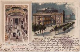 2785163Wien, Hofburg Theater Litho (poststempel 1899) Scotch Am Ecken Unten,sehen Rückseite) - Unclassified