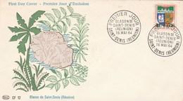 REUNION FDC Yvert  346B Blason St Denis  16/5/1964 - Illustration 2 - Reunion Island (1852-1975)