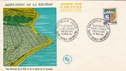 REUNION FDC Yvert  346B Blason St Denis  16/5/1964 - Illustration 3 - Reunion Island (1852-1975)