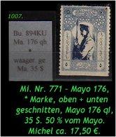 EARLY OTTOMAN SPECIALIZED FOR SPECIALIST, SEE...Mi. Nr. 771 - Mayo 176 KU - Mayo 176 Qh -R- - 1921-... República