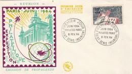 REUNION FDC Yvert  359 Philatec St Denis 8/2/1964 - Illustration 2 - Reunion Island (1852-1975)