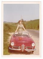 "AUTOMOBILE - ALFA ROMEO "" GIULIETTA CABIOLET SPIDER "" - CAR -  DONNA - FOTO ORIGINALE - Automobiles"