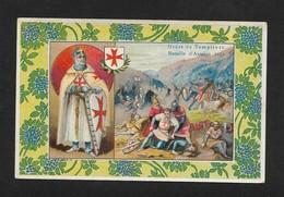 Ordre Des Templiers Bataille D'Ascalon 1153 - Belle Chromo Image 9X14cm Chocolat Cardon Cambrai - Other
