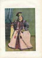 Document (1880) : Kalmoukie, Une Princesse Kalmouke, Photographie Aquarellée (Aquarelle), Souvenir De Voyage - Postcards