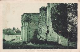 CPA FRANCE TUSSON Charente Ruines De L'Abbaye Couleur Verte - Autres Communes